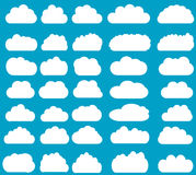 Cloud vector icons isolated over background Stock Photography