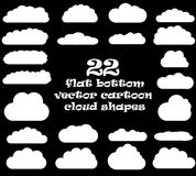 Cloud vector icons isolated over black background Stock Photography
