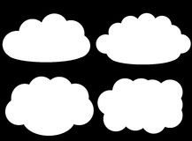 Cloud vector icons isolated over black background Royalty Free Stock Image