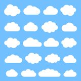 Cloud. Vector set. Clouds in flat style Stock Photography