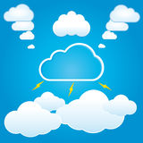 Cloud Vector SET 2 Royalty Free Stock Photo