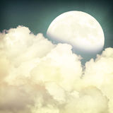 Cloud-2. Vintage moon sky background in summer style Royalty Free Stock Photos