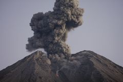 Cloud of volcanic ash from Semeru Java Indonesia Stock Photography