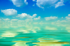 Cloud and water Royalty Free Stock Photo