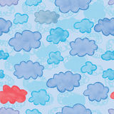 Cloud watercolor set seamless Royalty Free Stock Images