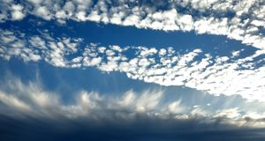 Cloud waves 2 Royalty Free Stock Photo