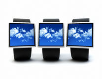 Cloud wearables Stock Photography