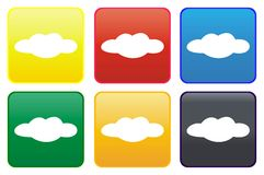 Cloud web button Royalty Free Stock Photo