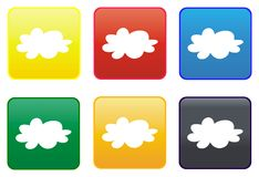 Cloud web button Royalty Free Stock Images