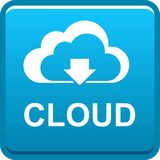 Cloud web button icon Stock Photos