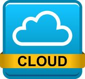 Cloud web button icon Stock Image