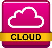 Cloud web button icon Royalty Free Stock Photo