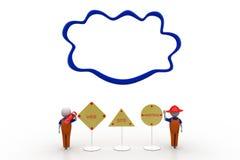 Cloud web hosting illustration Stock Images