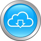 Cloud web icon button Stock Photography