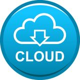 Cloud web icon button Stock Image