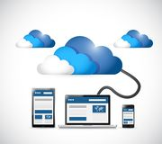 Cloud and web platforms technology illustration Stock Photo
