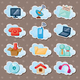 Cloud Web Stickers Royalty Free Stock Photography