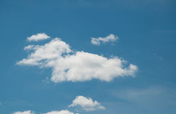 Cloud. White cloud against blue sky Royalty Free Stock Images