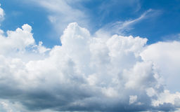 Cloud. White cloud in the blue sky Royalty Free Stock Photos