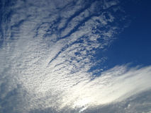 Cloud white cirrus deep sky Stock Image