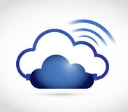 cloud and wifi signal sign illustration Stock Images