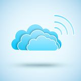 Cloud with  Wifi symbol Royalty Free Stock Photo