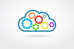 Cloud With Gears Stock Photo