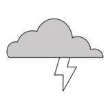 Cloud witn lightning ray icon Royalty Free Stock Photo