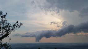 Cloud. Wonderful Cloud Seen in Germany at the Mountain Hoher Meissner Stock Image