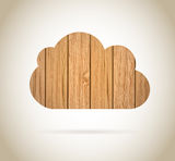 Cloud wood Royalty Free Stock Image