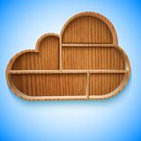 Cloud wood shelves and shelf design Royalty Free Stock Images