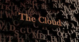 The Cloud - Wooden 3D rendered letters/message Royalty Free Stock Photo