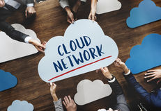 Cloud Words Online Technology Network Concept stock images