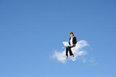 Cloud work stock image