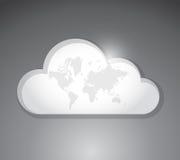 Cloud work map illustration design Stock Photo