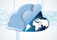 Cloud world Royalty Free Stock Image