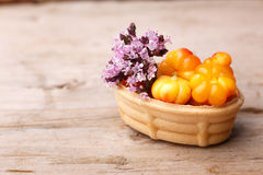 Cloudberry tart Stock Photo