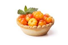 Cloudberry tart Royalty Free Stock Photo