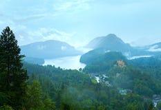 Cloudburst above Neuschwanstein Castle in Bavaria Royalty Free Stock Image