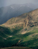 Cloudburst in the Mt. Massive Wilderness, from the summit of Peak 13500, Colorado Royalty Free Stock Photography