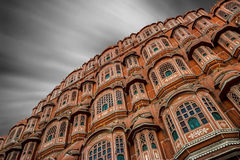 Cloudburst over Hawa Mahal Royalty Free Stock Photo