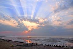 Cloudburst słońca promieni zmierzch Zdjęcie Stock