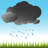 Cloudburst Weather Royalty Free Stock Photo