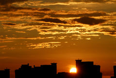 cloudds ηλιοβασίλεμα Στοκ Εικόνες
