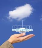 Cloude computing. Cloud computing network on hand Stock Photos