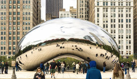 Cloude Gate in Chicago Stock Photos