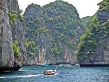 Clouded bay in paradise. Krabi province, Thailand Stock Photography