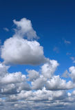 Clouded blue sky. Awesome blue skies with scattered cool clouds Royalty Free Stock Photo