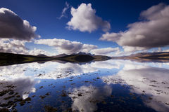 Clouded kyle. Clouded landscape at the Tongue kyle in north Scotland royalty free stock photos