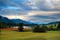 Clouded morning on Geroldsee lake Royalty Free Stock Photos